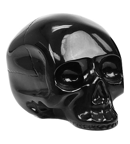 D.L. & CO Memento Mori medium black brass skull