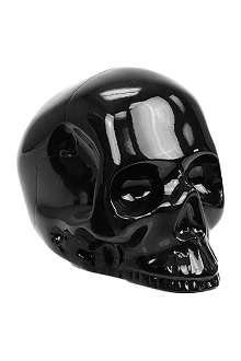 D.L. & CO Memento Mori large black brass skull