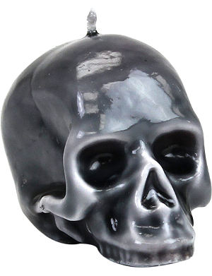 D.L. & CO Marble-glazed Skull mini candle