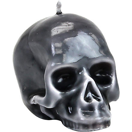 D.L. & CO Marble-glazed Skull mini candle