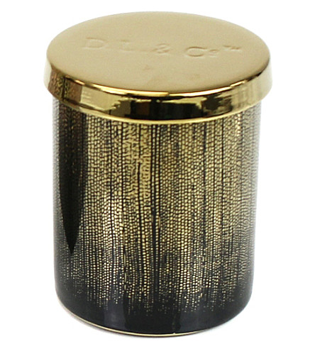 D.L. & CO Sparkling Embers black tumbler candle