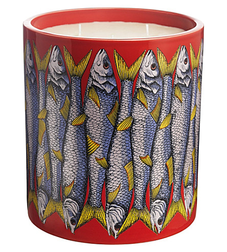 FORNASETTI Sardine Rosso scented candle 300g