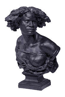 CIRE TRUDON The Liberated Slave black bust