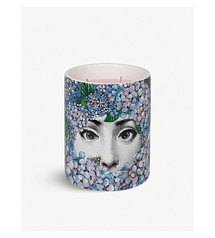 FORNASETTI Flora Ortensia large scented candle 900g