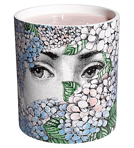 FORNASETTI Flora ortensia large scented candle 1900g
