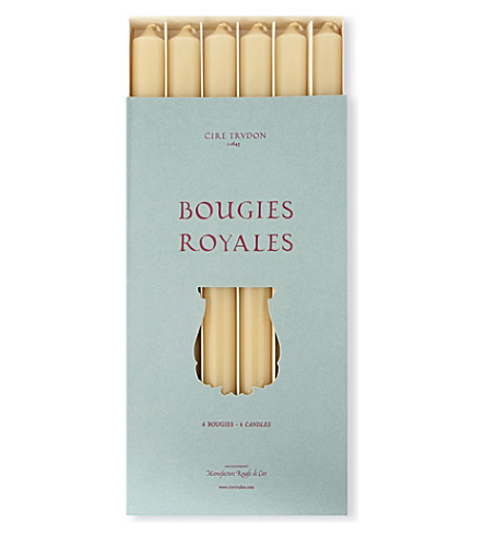 CIRE TRUDON Bougies Royales handmade candles set of six
