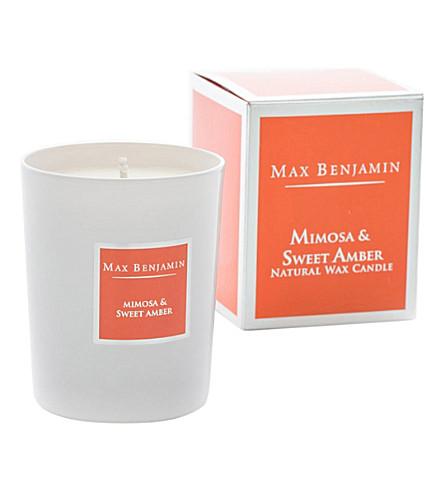 MAX BENJAMIN Mimosa & sweet amber candle