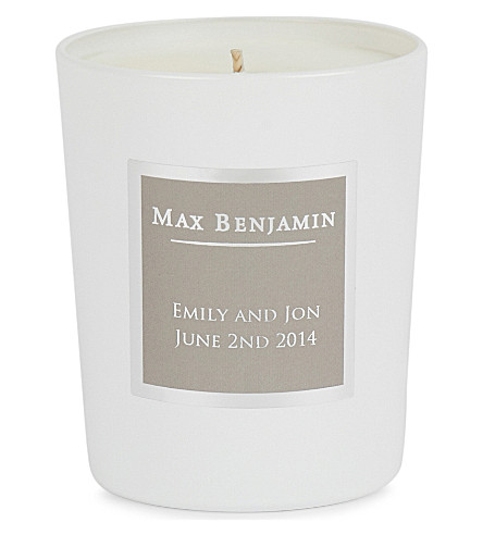 MAX BENJAMIN French Linen Water Personalised Candle