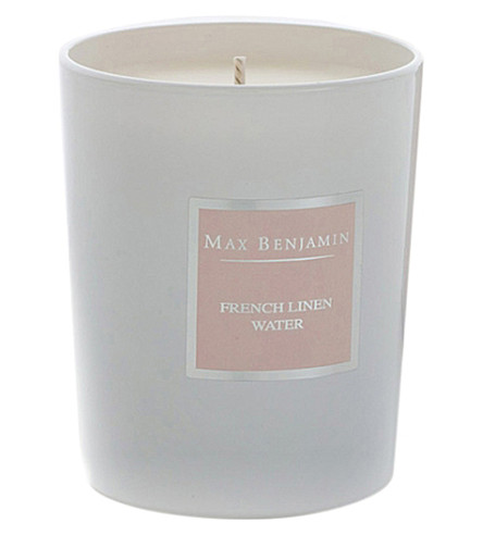 MAX BENJAMIN French linen water candle 190g