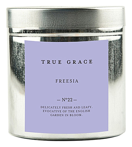 TRUE GRACE Walled Garden freesia candle