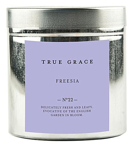 TRUE GRACE Walled Garden freesia candle