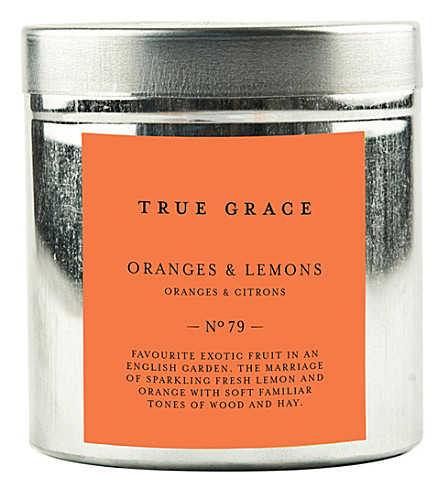 TRUE GRACE Walled Garden orange lemons candle