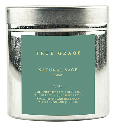 TRUE GRACE Walled Garden natural sage candle
