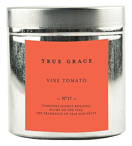 TRUE GRACE Walled Garden vine tomato tin candle