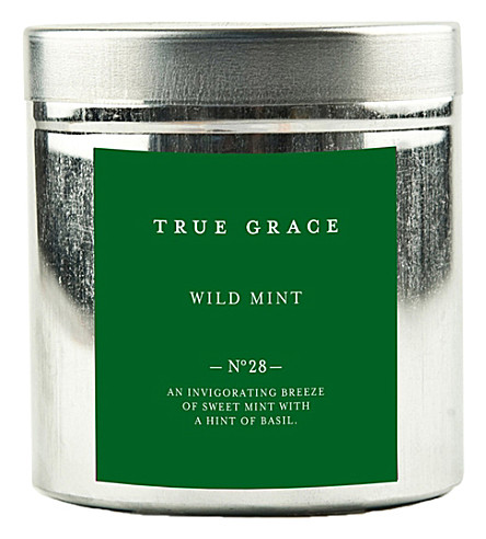 TRUE GRACE Walled Garden wild mint candle
