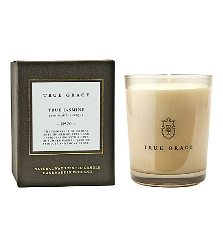 TRUE GRACE Manor True Jasmine scented classic candle 190g