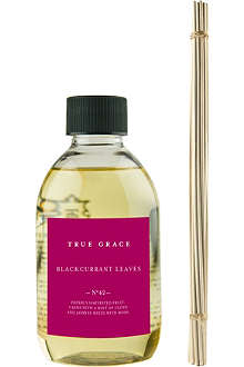 TRUE GRACE Blackcurrant Leaves reed diffuser refill 250ml
