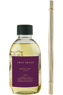 TRUE GRACE Black Lily reed diffuser refill 250ml
