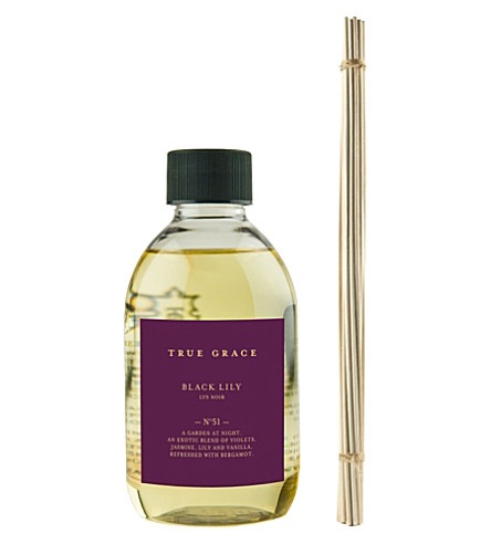 TRUE GRACE Black Lily reed diffuser refill 250ml
