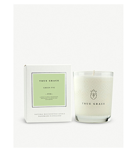 TRUE GRACE Village Green Fig scented candle 190g