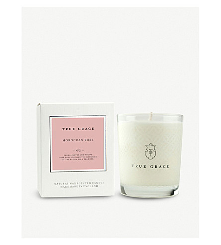 TRUE GRACE Village Moroccan Rose scented candle 190g