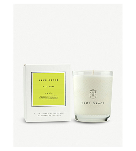 TRUE GRACE Village wild lime scented candle
