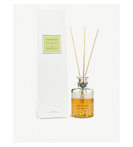 TRUE GRACE Village green tea and citrus reed diffuser 200ml