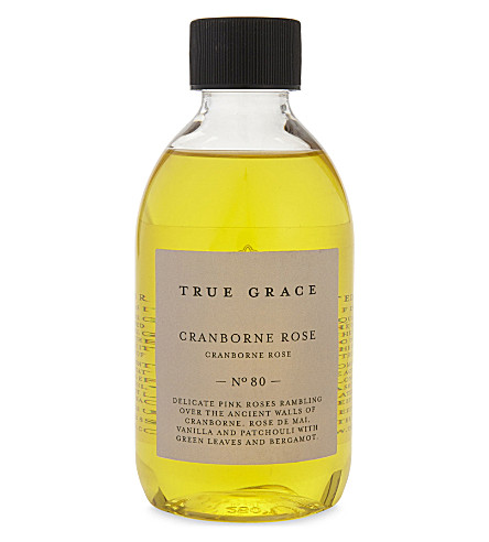 TRUE GRACE Cranborne Rose scented reeds refill oil 250ml