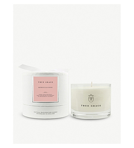 TRUE GRACE Village Moroccan Rose scented candle 225g