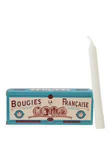 BOUGIES LA FRANCAISE Box of eight perforated taper candles
