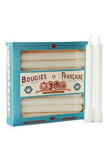 BOUGIES LA FRANCAISE Box of 20 perforated taper candles