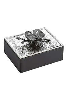 MICHAEL ARAM Black Orchid mini jewellery box