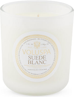 VOLUSPA Suede Blanc candle