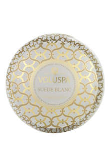 VOLUSPA Suede Blanc two-wick candle