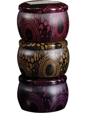 VOLUSPA Japonica mini candle trio set- Santiago Huckleberry