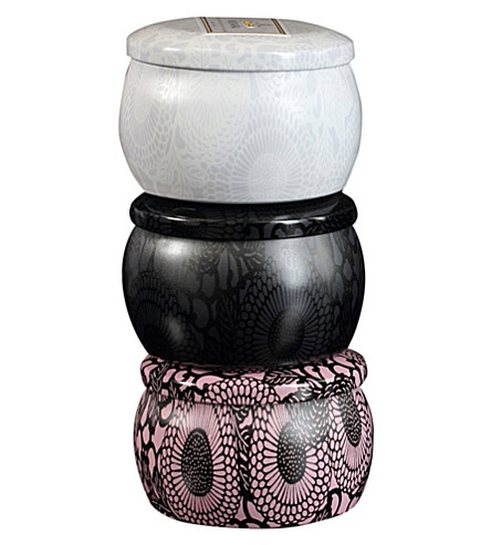 VOLUSPA Japonica mini candle trio set-