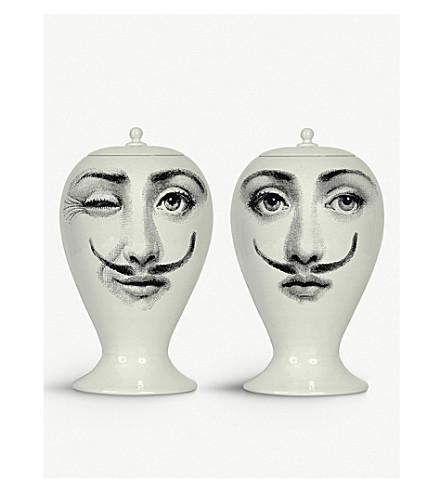 FORNASETTI Moustache porcelain vase 15cm