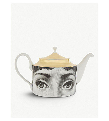 FORNASETTI Ceramic face teapot