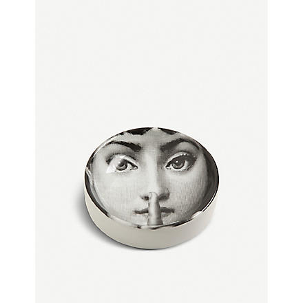 FORNASETTI Round porcelain ashtray