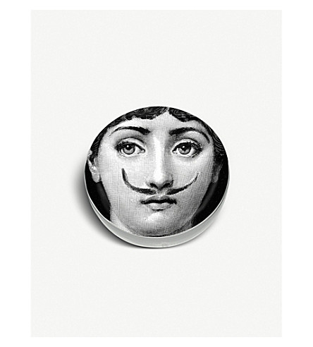 FORNASETTI Round ceramic moustache ashtray