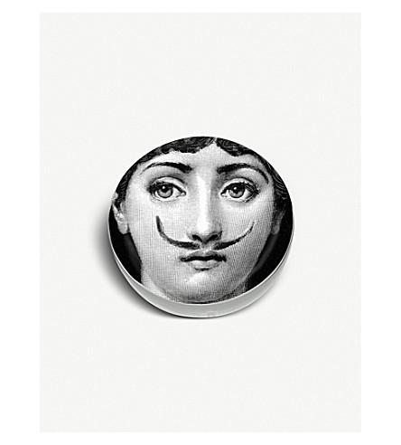 FORNASETTI 圆形陶瓷小胡子烟灰缸