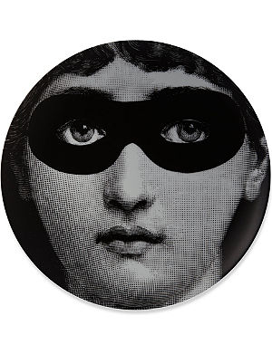 FORNASETTI Masked eyes wall plate  sc 1 st  Selfridges & FORNASETTI - Wall plate 26cm | Selfridges.com