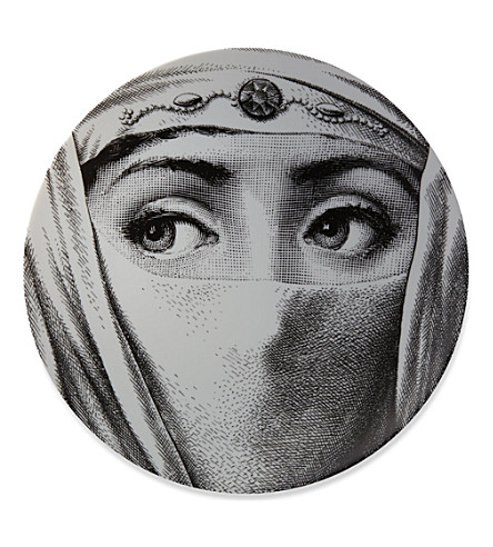 FORNASETTI Veiled eyes wall plate