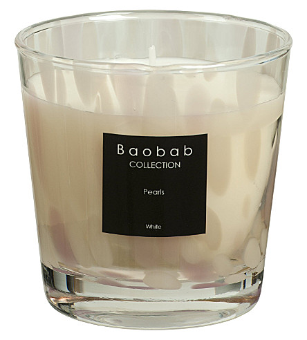 BAOBAB White pearl max one scented candle