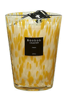 BAOBAB COLLECTION Citrine Pearls Max 24 candle