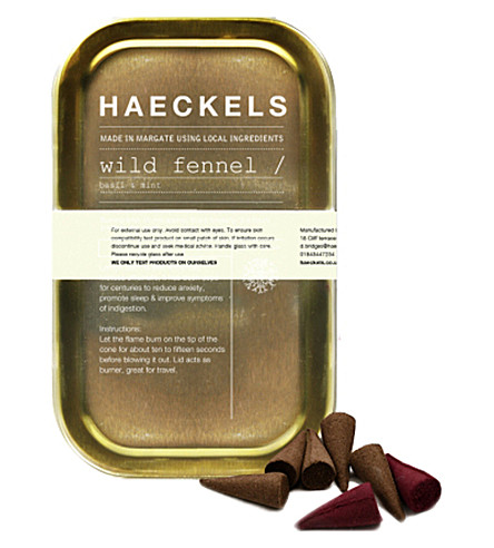 HAECKELS Wild fennel incense tin 20 cones