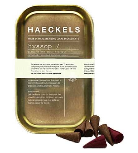 HAECKELS Hyssop herb incense tin 20 cones