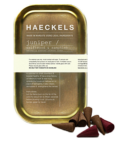 HAECKELS Juniper plant incense tin 20 cones
