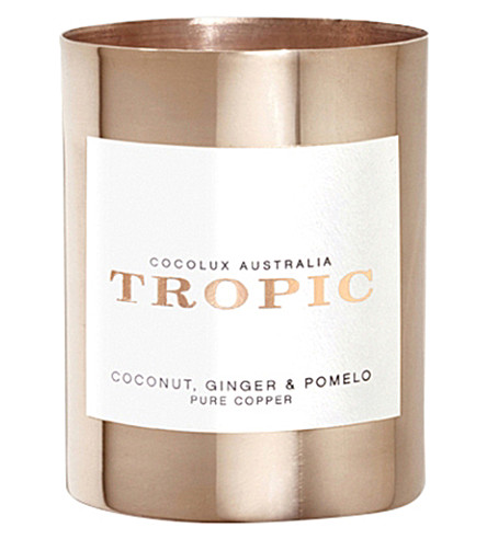 COCOLUX Tropic coconut, ginger and pomelo candle 150g