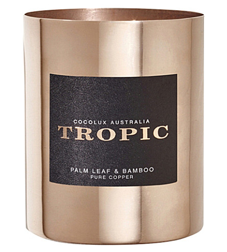 COCOLUX Tropic palm leaf and bamboo candle 350g